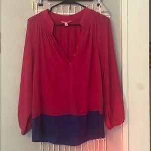 100% silk long sleeve blouse, gently worn